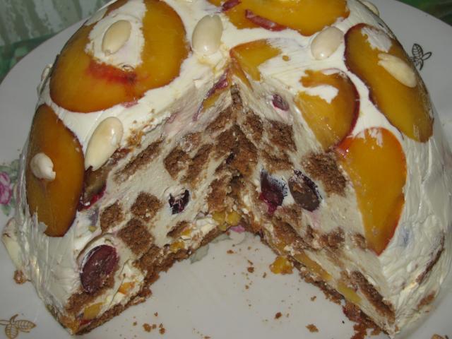 Торт с бланманже рецепт