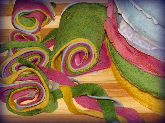 Разноцветные блины рецепт с фото