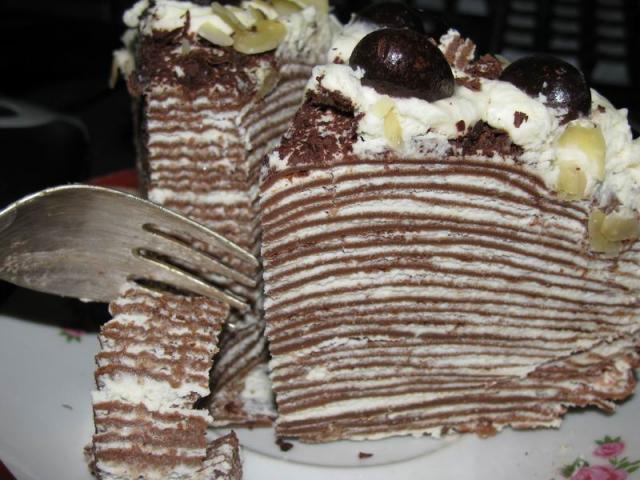 блинный торт (сливки) рецепт