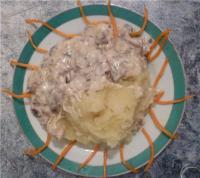 Грибы в сырном соусе - фоторецепт