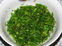 Томатные блинчики с зеленью
