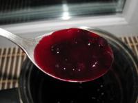 Малиново-манный мусс с киселем