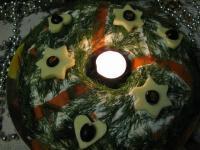 """Салат """"Рождественский цыпленок""""+ оформление """"Рождественский венок"""""""