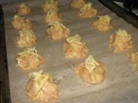 Закусочные профитроли с ветчиной и сыром