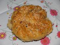 Хлеб-пирог с ветчиной и сыром