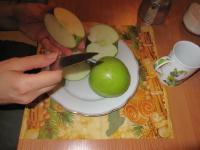 Свинина с яблоками и черносливом