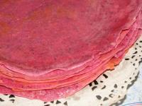 Розовые блинчики с маком