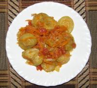 Кабачки тушеные с овощами - Фоторецепт