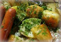 Молодая печеная картошка