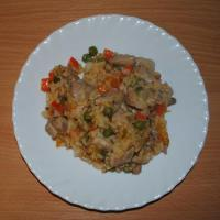Курица с рисом и овощами - Быстрый обед :)
