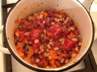 Кавказское лоббио (тушеная фасоль с овощами)