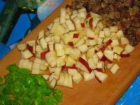 Кекс с яблоками на кефире