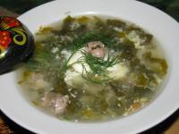 Суп из щавеля с фрикадельками