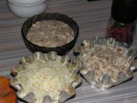 Жульен из грибов и курицы