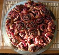 Пирог с маком и брусникой - фоторцепт