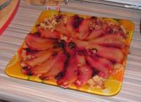 Рассыпчатый пирог  с грушей и клюквой