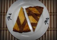 Полосатый пирог с творогом