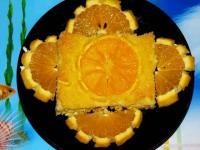 Творожно-апельсиновый пудинг