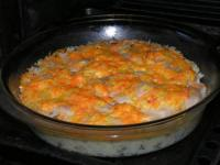 Рыба,запечённая с рисом и овощами