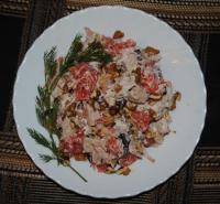 Салат из куриной грудки с грейпфрутом - фоторецепт