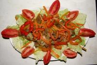 Салат с куриной печенкой - фоторецепт