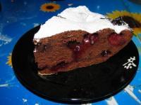 Шоколадно-вишнёвый кекс - фоторецепт