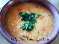 Суп из красной чечевицы