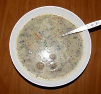 Суп-пюре с шампиньонами - Фоторецепт