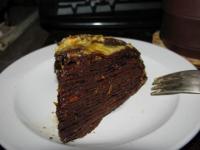 Шоколадный блинный торт а-ля Сюзетт