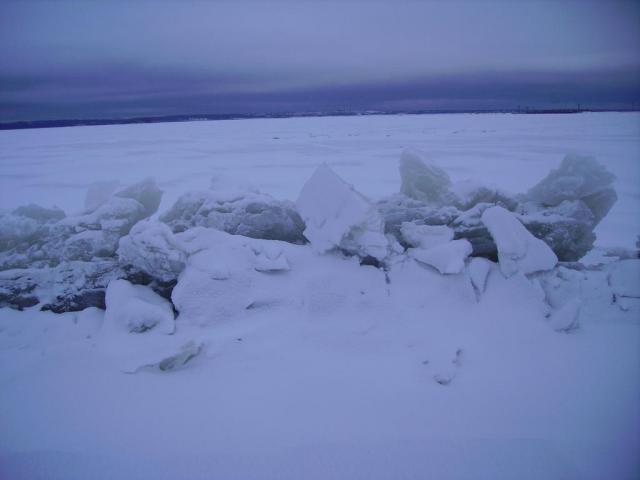 Торосы на Финском заливе.