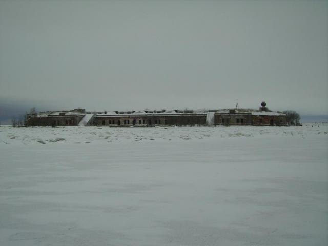 Южные форты. Форт Милютин. Фасад. Вид с восточной стороны.