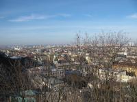 Вид на Киев с очередного холма.