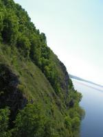 Левый берег Волги.