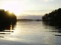 Ладога, Карелия. Белые ночи, закат. Между Слитным и Безлесым островами.