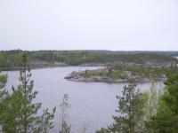 Ладога, Карелия. Вид на Беличий остров с острова Большой Черный.