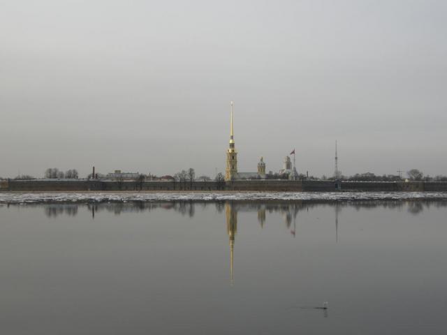 Петропавловка. Ледоход на Неве.