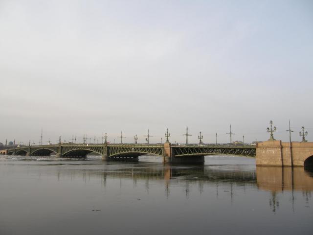 Нева. Троицкий мост.