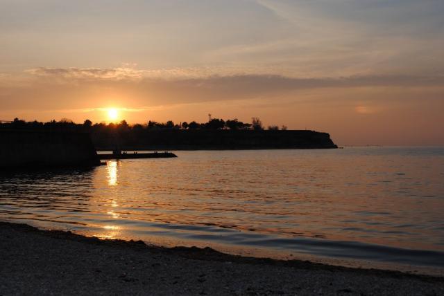 Севастополь. Закат на Солнечном пляже