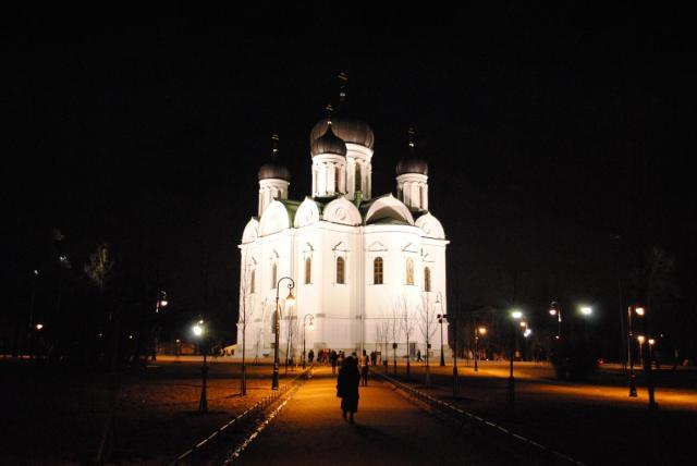 Собор Св. Екатерины, Пушкин. Пасхальная ночь.