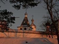 Ферапонтово. Ферапонтов монастырь. Закат.