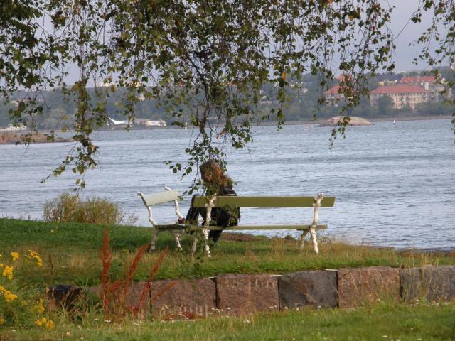 Финляндия. Хельсинки. На берегу. Крепость Свеаборг.