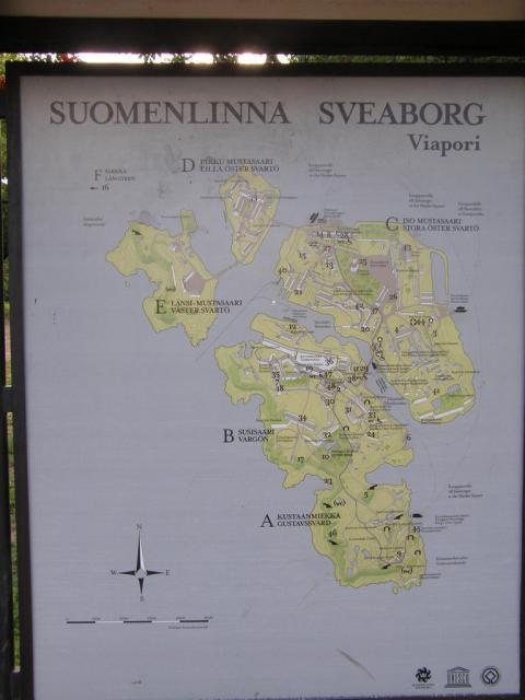 Финляндия. Карта Sveaborg