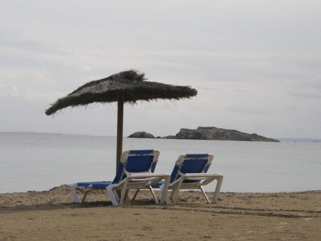 """Испания, о.Ибица, г.Ибица. """"Шикарные пляжи"""" Ибицы."""