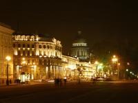 Петербург. Вид с Дворцовой площади на Исаакиевский собор.