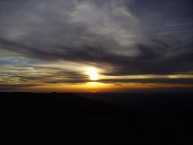 Крым. Закат над Ялтинской Яйлой